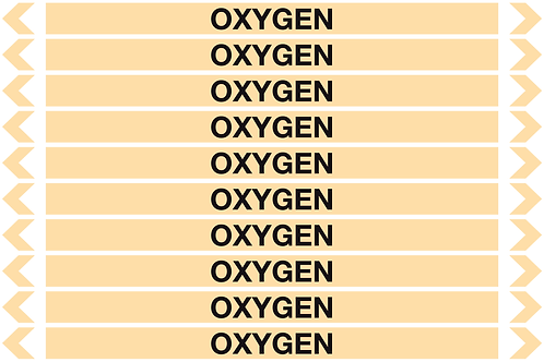 OXYGEN - Gases Pipe Markers