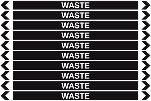 WASTE - Misc. Pipe Markers