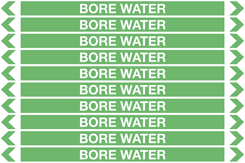 BORE WATER - Water Pipe Markers