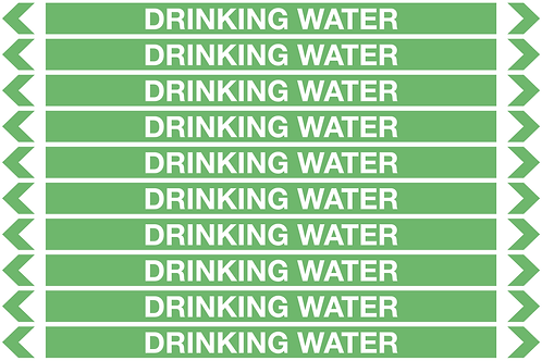 DRINKING WATER - Water Pipe Markers