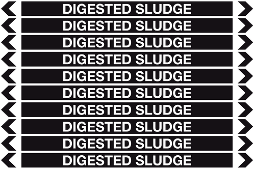 DIGESTED SLUDGE - Misc. Pipe Markers