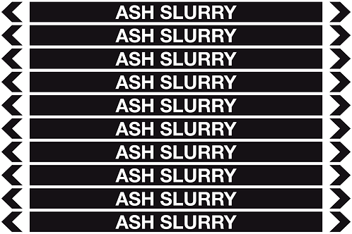 ASH SLURRY - Misc. Pipe Markers