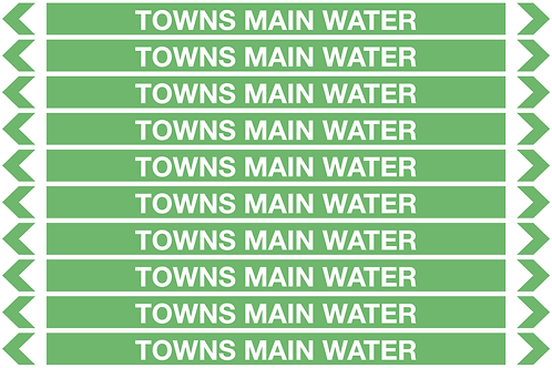 TOWNS MAIN WATER - Water Pipe Markers