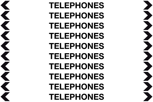 TELEPHONES - Communication Pipe Markers