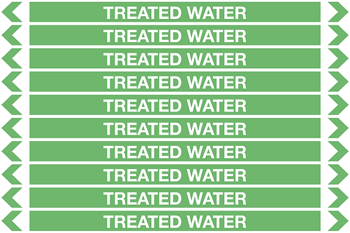 TREATED WATER - Water Pipe Markers
