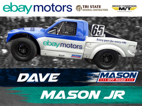 Dave Mason Jr. Returning to Short Course Off Road; USMA, eBay Motors and Mason to Partner at Off-Roa