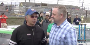 Connecticut State Representative Kurt Vail (right) with Stafford Speedway competitor Tom Butler at Stafford Speedway (Photo: Kurt Vail/YouTube)