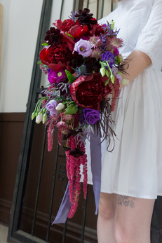 Large cascading bridal bouquet