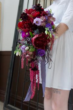 Large cascading bridal bouquet
