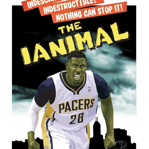 Ian Mahinmi Headshot Poster