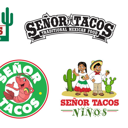 Designs for Señor Tacos Logos