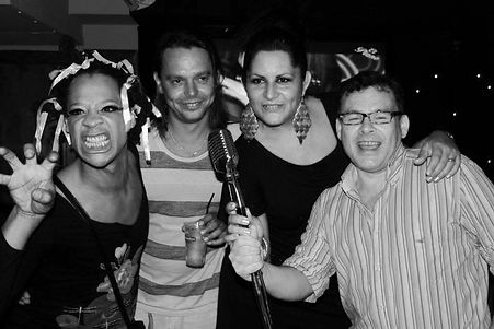 Ron White,Andrei Quint,Alicia Nilsson & Jimmy Gallagher at the 10 anniversary party of El Piano in Sitges!