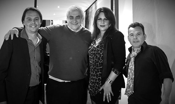 Andrei Quint,Domingo Mûnoz,Alicia Nilsson & Jimmy Gallagher at the opening of the Syndicate Music Club,Mallorca!