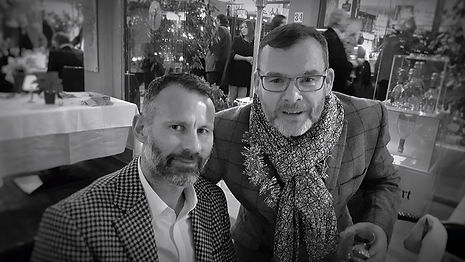 Ryan Giggs & Jimmy Gallagher at The New Years Eve Party in Ritzi of Portals,Mallorca!