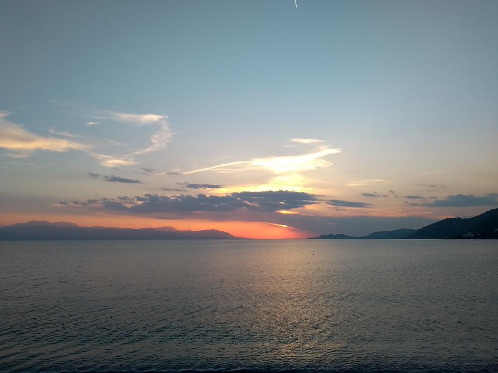 Sunset over the Med.
