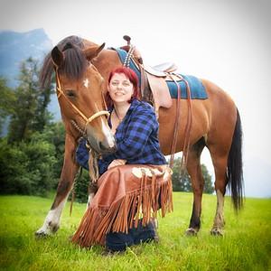 Fotoshooting beim Pferdestall Islern in Attinghausen