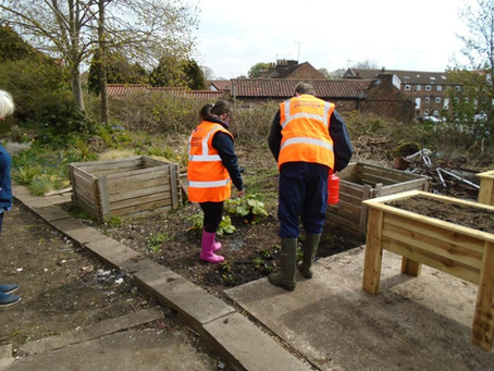 Driffield in Bloom involve a local school with station gardens.