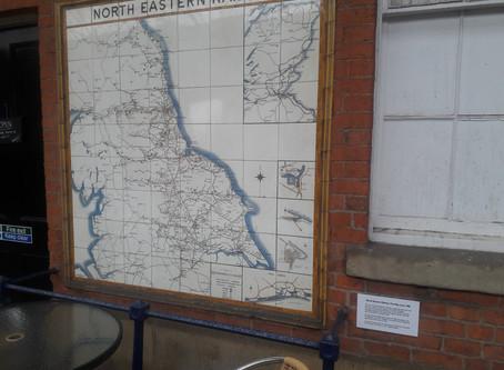 Bridlington station's NER tiled map