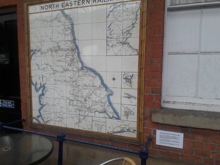 Bridlington station's NER tiled map
