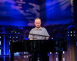 Bart Gee with disability called Arthrogryposis speaking at Bethel Church Oldbury