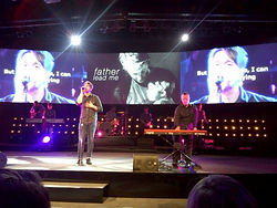 Bart Gee with disability called Arthrogryposis playing piano at Edge Church Adelaide
