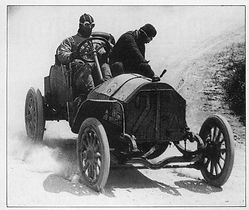 1906 Winner of the First Targa Florio race Albert Divo in 1907 race on MotometerCentral.com