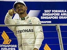 Lewis Hamiton 2017 Singapore GP Champion