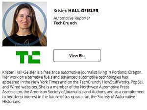 Kristen Hall-Geisler Bio from Techcrunch Automotive on MotometerCentral.com