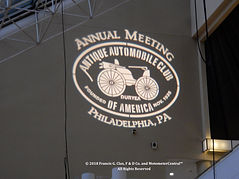 AACA Logo wall projection at 2018 Philadelphia Convention on MotometerCentral™.com
