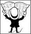 Man Reading Paper Icon