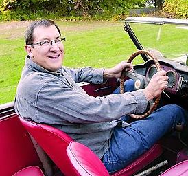 Walter Miller in Car