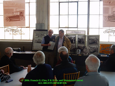 David Buehler at Templar Motor Car Museum for SAH 2016 Tour on motometerCentral.com