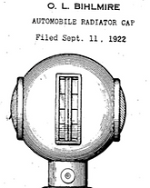 Otto Bihlmire's Radiator Cap Top Drawing