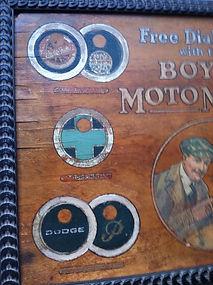 Left side of Fake Boyce Moto-Meter Sign as revealed on MotometerCentral.com