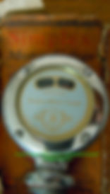 Simplex Motor Gauge with Box Front Logo Side View on MotometerCentral.com™