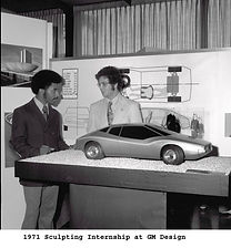 A Young Ed Welburn exhibiting his finished GM Design work in 1971 on MotometerCentral.com