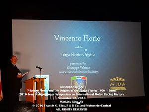 Giuseppe Valenza 2016 Argetsinger Symposium Speech on MotometerCentral.com