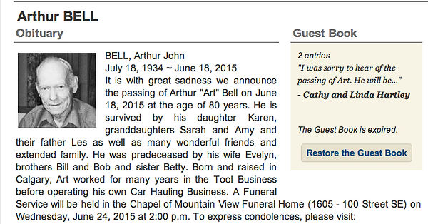 Art Bell's Obituary on MotometerCentral.com