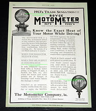 1913 Motor Age Boyce Moto-Meter Trade Sensation Ad on MotometerCentral.com