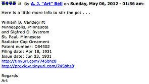 """Arthur John """"Art"""" Bell's Last MTFCA Post on MotometerCentral.com"""