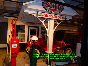 Standard Oil Service Station with Ford Car on MotometerCentral.com