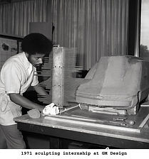 A Young Ed Welburn hard at GM Design work in 1971 on MotometerCentral.com
