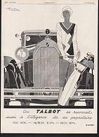 Talbot Motor Car Company 1929 Ad on MotometerCentral.com
