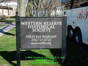 Western Reserve Historical Entrance Roadside Sign