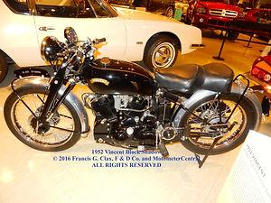 1952 Vincent Black Shadow Model C on MotometerCentral.com