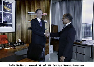 Ed Welburn accepting the VP of GM Design North America position in 2003 on MotometerCentral.com