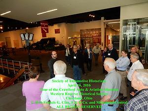 Crawford Museum Curator Derek Moore guiding SAH Tour on MotometerCentral.com