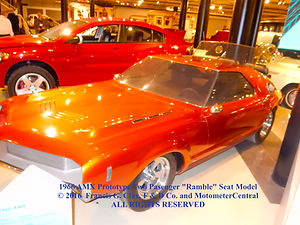 """1966 AMX Prototype Two Passenger """"Ramble"""" Seat Left Side Angled View on MotometerCentral.com"""