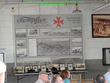 Templar Motor Car Factory Development Milestone Timeline Wallboard on MotometerCentral.com