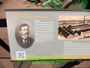 Information Board on Alexander Winton on MotometerCentral.com